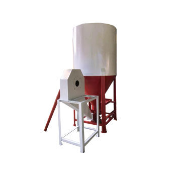 Grain crushing and mixing machine