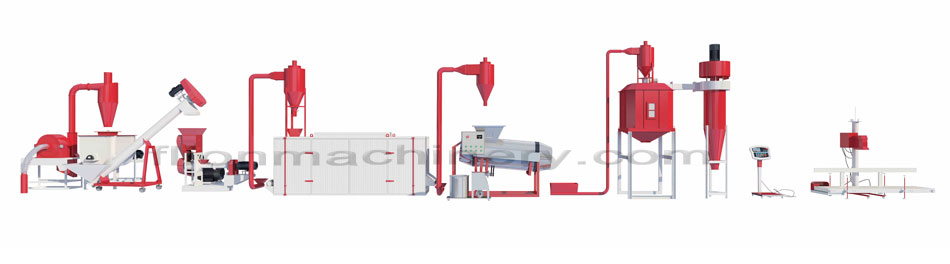 Floating fish feed production line - flavoring machine